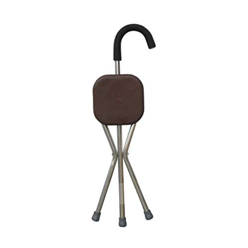 Furniture Open-Minded Crutch With Stool Chair Fishing Camping Folding Extended Hiking Seat Blue Coffee Can Bear 100kg Ultralight Outdoor Furniture