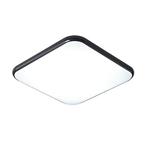Einfach Ultradünn 9Cm Deckenleuchte, LED Dreifarbiges Dimmbar Quadrat LED Sparen Licht, Für Babyzimmerlampe Study Lampe Bürolampelampe Schlafzimmerlampe Wohnzimmer Weiches Licht Augenschutz Ø45cm 24W