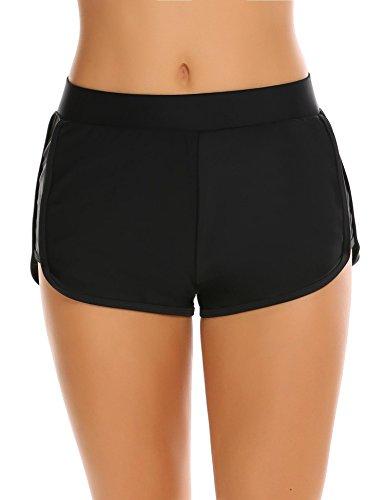 Untlet Damen BikiniHose Beachwear Sport Badeshorts Wassersport Schwimmshorts  EU 40(Herstellergröße: L),  Schwarz