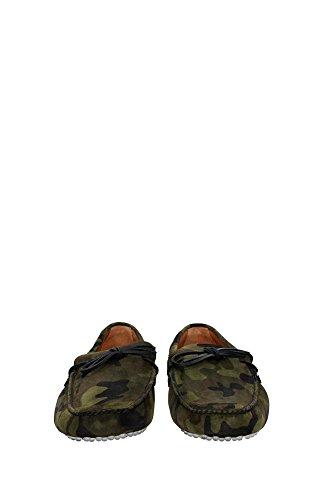 KUD006MIMETICOSCAMOSCIATOCAM Car Shoe Mocassini Uomo Camoscio Verde Verde