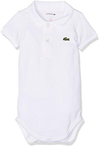 Lacoste Baby-Jungen Poloshirt 4J2851, Weiß (Blanc), 0-12 Monate (Herstellergröße: 12M)