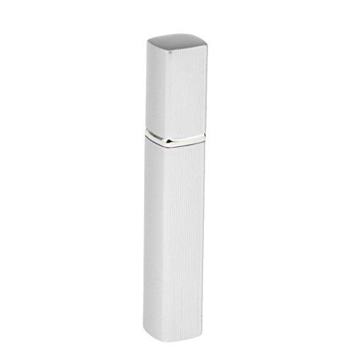 Sharplace Parfümzerstäuber Zerstäuber, nachfüllbar Leer Sprühflasche 10ml, Reise tragbare Aluminium Parfümflasche - Silber