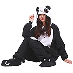 YUWELL Unisex Kigurumi Costume Anime Cosplay Hoodie Onesie Adulto Pijamas Partido Halloween Lounge Wear (Panda Roja Lágrimas) Tamaño M