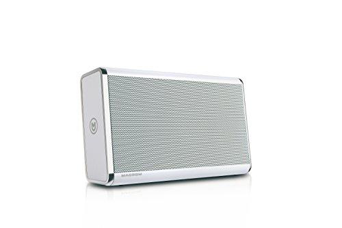 Foto Macrom Premium Altoparlante Portatile, Wireless Bluetooth, Bianco
