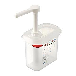 Araven CR821 Sauce Dispenser GN 1/9, 1.5 L, Transparent