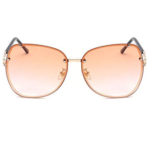 uliaadela Sonnenbrille für Männer Frauen Aviator Polarized Metal Mirror UV 400 Linsenschutz, Orange Slice