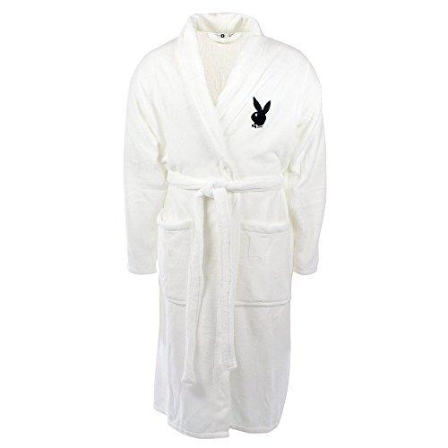 Playboy Bademantel Home Collection Weiß Größe S
