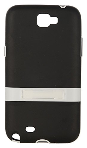 iCandy™ Premium Quality TPU White Boarder Soft Back Cover With Stand For Samsung Galaxy Note II N7100 - Black  available at amazon for Rs.99