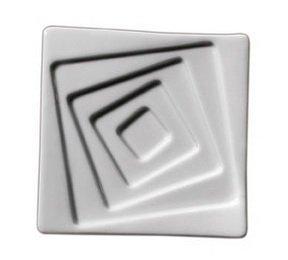 1x 6-er Set Dipschale TWIST für Öl, 12x12x1,8cm Salatschüssel, Salatschälchen (Porzellan-pfanne 12)