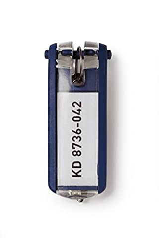 Durable Key Clips - Dark Blue (Pack of 6)