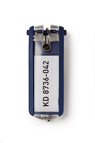 Durable 195707 Schlüsselanhänger, 6 Stück dunkelblau