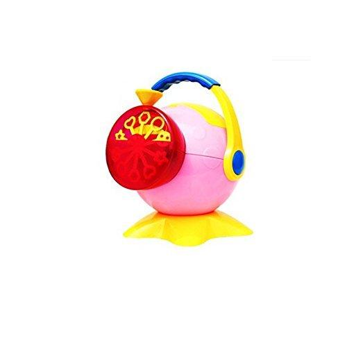 Trendario Seifenblasenmaschine (rosa) in buntem Design für Kinder & Erwachsene, die bessere Seifenblasenpistole für mehr Seifenblasen - Elektrische Seifenblasen-Kanone - ideal für Hochzeit, Deko, Kindergeburtstag