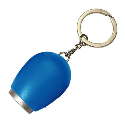 TianranRT Digital Zeit Projektion Watch Mini LED Nacht Licht Projektor Taschenlampe Schlüsselanhänger (Blau)