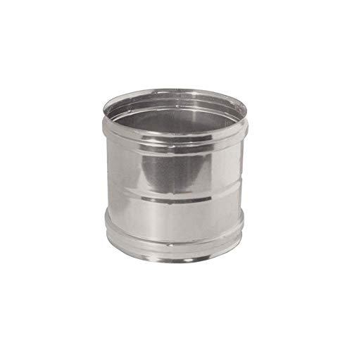 Manicotto femmina/femmina in acciaio inox per canne fumarie (DN 180)
