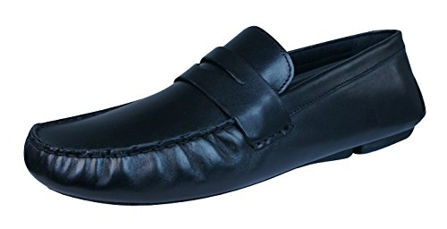 Red Tape Cranfield hommes en cuir Loafers / Chaussures Black