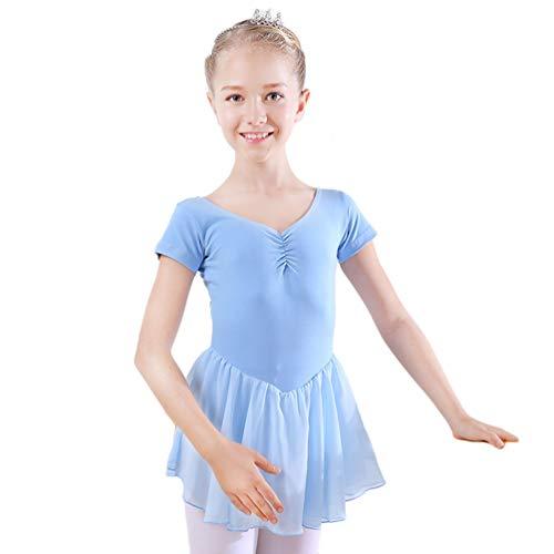 JEELINBORE Filles Justaucorps Robe de Danse Tutu Ballet Manches Courtes Princesse Fancy Fairy...