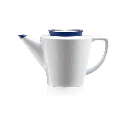 Viva Scandinavia 9101135 Théière avec Couvercle, Porcelaine, Blanc, 20,5 x 14,5 x 15 cm