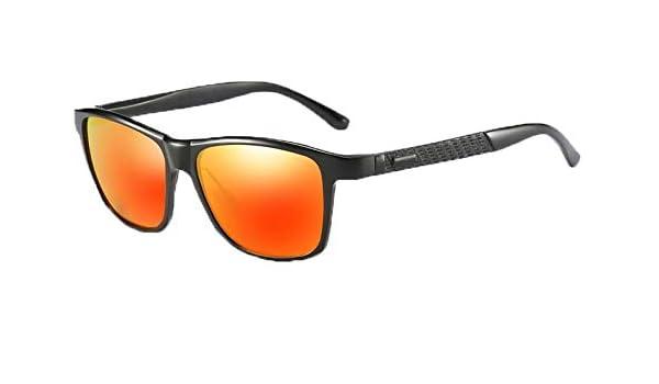 a5c049e328 Vagabond Aluminum Magnesium Men Polarized Mirrored Sunglasses HD Lens  Premium Metallic Design High Fashion Accessory+MIRRORED RED  Amazon.in   Clothing   ...