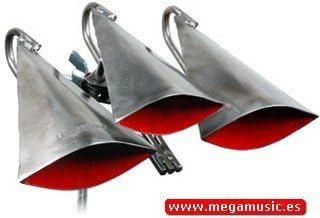 CAMPANA - Rhythm Tech (MW/TTB) Triple Timbale Bell (Grupo de 3 Cencerros para Acoplar a Timbales)