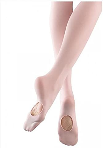 Mytoptrendz® Women Ladied PINK CONVERTIBLE TOE BALLET TIGHTS (Large - Hips 42