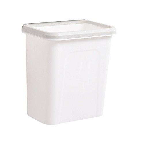 INTER FAST Haushalt Wand-Mülleimer Küchenschränke können Kunststoff-Lagerplätze, Größe aufgehängt Werden: 27X17X28CM Mülleimer (Color : White)