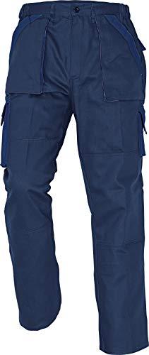 Max - Pantaloni da Lavoro in Cotone da Uomo Blu Intenso 46