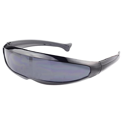 Haihuic Futuristische Cyclops-Sonnenbrille Cyberpunk Verspiegelte Linse Visier ()