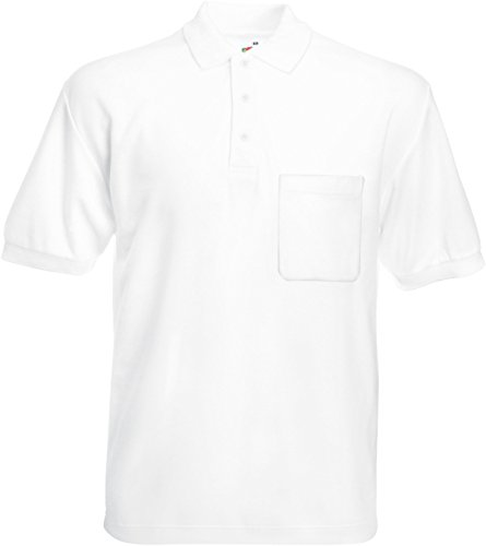 Fruite of the Loom Polo Shirt mit Brusttasche, vers. Farben White