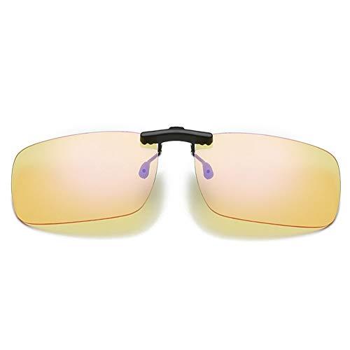 LIUYIAO Anti-Blu-Ray Brille Clip-Typ Männer Und Frauen Computerschutzbrille Myopie Augen Spezielle Handy-Strahlenschutz Augenclip,Yellow