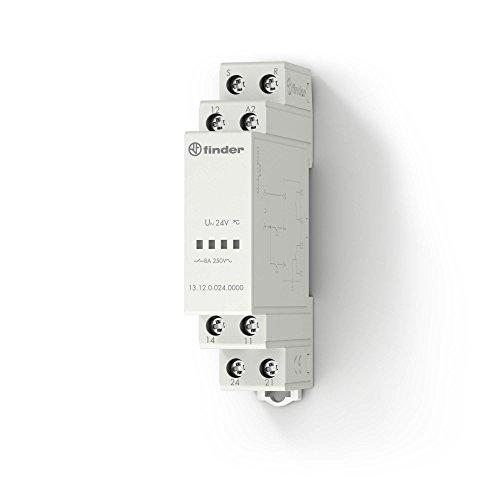 Finder 131200120000PAS Ruf-Quitter-Relais, modular, mit Wechsler, 1Schließer, 8A, 12VAC/DC -