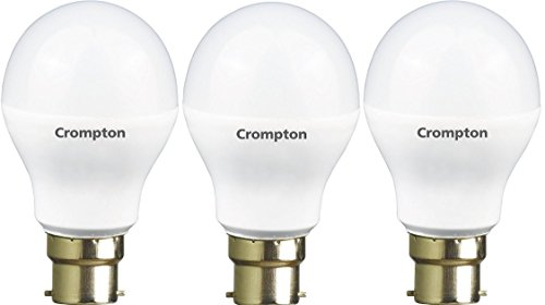Crompton Base B22 9-Watt LED Bulb (Pack of 3, Cool Day Light)