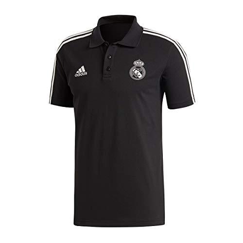 7eb09c4bd8d adidas 2018-2019 Real Madrid 3S Polo Football Soccer T-Shirt Camiseta (Black