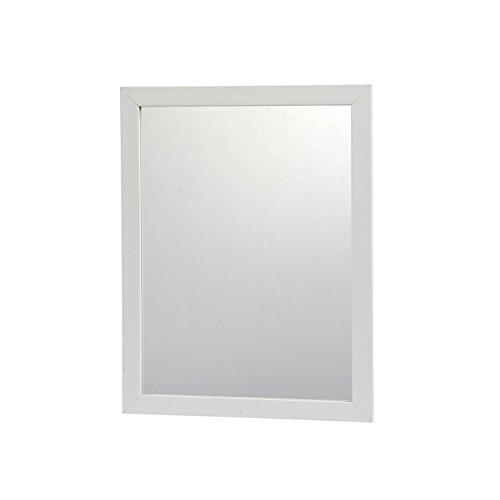 RBS09DGC Spiegel Wandspiegel Türspiegel Schminkspiegel Flurspiegel Rechteckig 40x30 Weiss