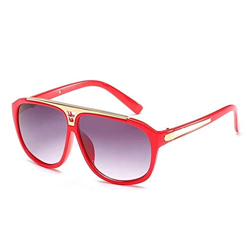 DANANGUA Mode Beweis Stil Sonnenbrille Frauen Luxusmarke Männer Vintage Sonnenbrille Brillen Shades UV400 (Lenses Color : No3 Red, Size : M)