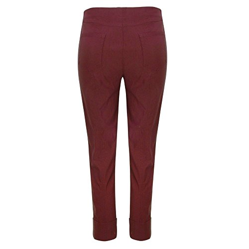 Bella Slim Fit 7/Robell 8 pantaloni slittamento pantaloni da donna elasticizzati #Bella 09 Weinrot(56)