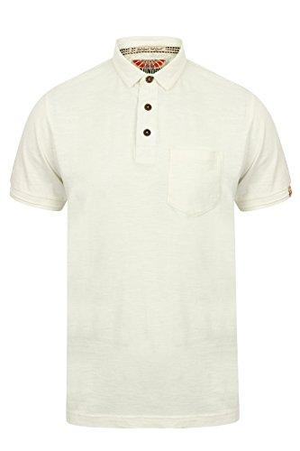 Tokyo Laundry Herren Poloshirt, Einfarbig Blau Blau Small Ivory - Off White