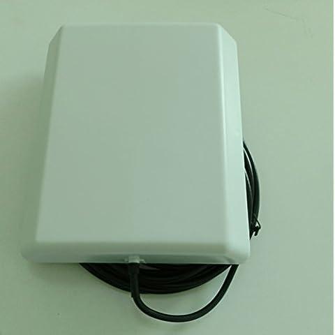 Conector SMA macho GSM 2G 3G 900MHz 1800MHz 2100MHz 9dBi Antena Pannel Interior con 5 metros cabl003 color Negro para el teléfono amplificador repetidor
