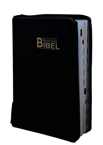 Preisvergleich Produktbild NeueLuther Bibel: Luther 2009 - Großausgabe - Lederfaserstoff Schwarz - Goldschnitt - Register - Reißverschluss mit Druckknopf