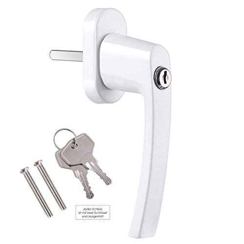 FIXKIT 4 Stück Fenstergriff mit 8 gleichen Schlüsseln abschließbar und kindersicher (weiß)
