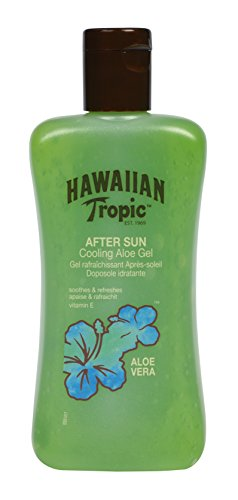 Hawaiian Tropic After Sun Gel Cooling Aloe – Gel After Sun de Aloe Vera para piel irritada por el sol, hipoalergénico y dermatológicamente probado, formato 200 ml
