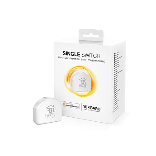 Fibaro Homekit Enabled Single Switch/Commutatore di micromoduli, FGBHS-213