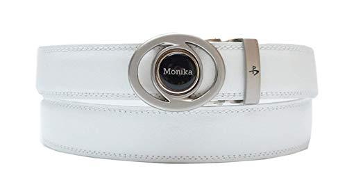 RoLoGOLF Leder-Golf-Gürtel mit personalisiertem Golfball-Marker in schwarz, weiß oder braun -