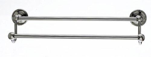 Top Knöpfe ed11e Edwardianischer 76,2cm Doppel-Handtuchstange Band Backplate, gebürstet Satin Nickel -