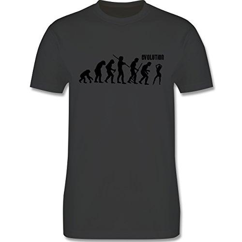 Evolution - Tanz Evolution - Herren Premium T-Shirt Dunkelgrau
