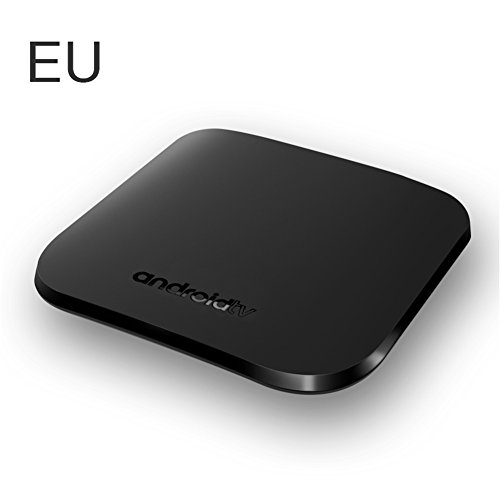 Android 7.1 TV Box M8S PLUS Smart TV Box mit 1GB SDRAM + 8GB ROM, Quad-Core Prozessor, Unterstützt 2.4G WiFi IEEE 802.11 b/g/n, 4K, H.265 MPEG1,MPEG2,MPEG4,RM,RMVB Media Player (EU) (1 Gb Tv)
