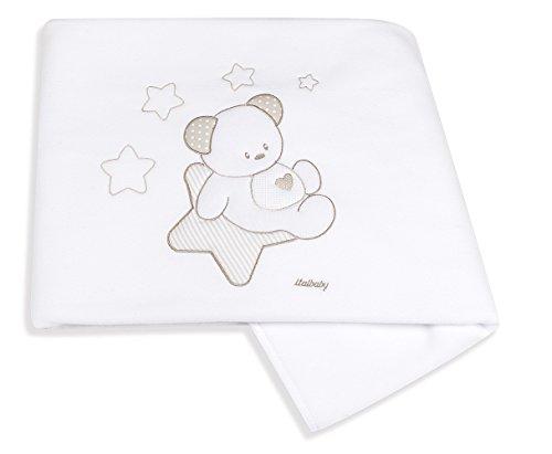 Italbaby Sweet Star Couverture pour lit de bébé, Rose