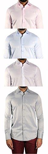 MUGA -  Camicia classiche  - A righe - Maniche lunghe  - Uomo Blu chiaro