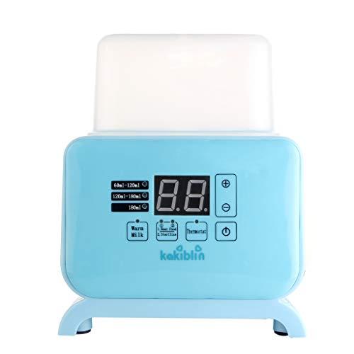 Scaldabiberon Veloce, KAKIBLIN Scaldapiatti 4 In 1 Scaldabiberon Termostato Elettrico Doppio Flacone Sterilizzatore Con Display LCD In Tempo Reale