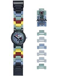 Reloj modificable infantil de figurita de Boba Fett de LEGO Star Wars 8020448 verde/gris