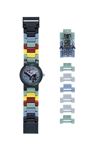 Reloj modificable infantil de figurita de Boba Fett de LEGO Star Wars 8020448...